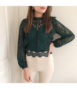 Elodie Lace Top / Green