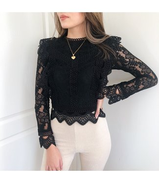 Clementine Lace Top / Black
