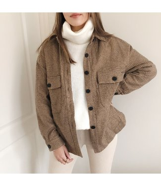 Jada Pied De Poule Jacket / Brown