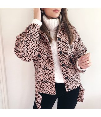 Alexis Printed Cheetah Jacket / Pink