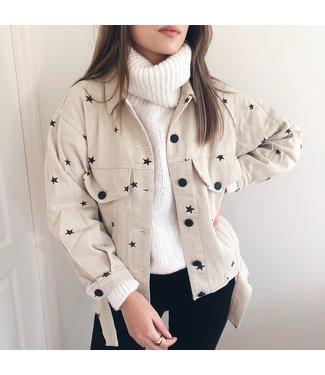 Nova Printed Star Jacket / Beige