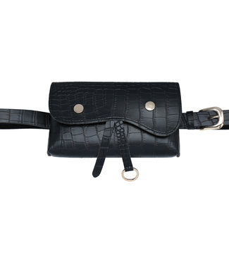 Karla Croco Belt Bag / Black