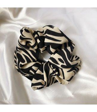 Cara Zebra Scrunchie / Beige