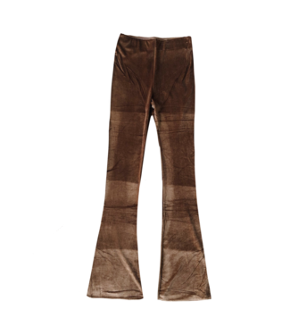 Lovisa Velvet Flared Leggings / Brown