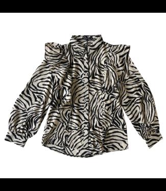 Savann Printed Zebra Blouse