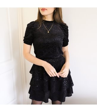 Ellis Sequin Skirt / Black