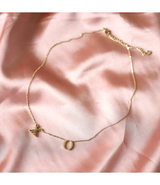Gold Dainty XO Necklace