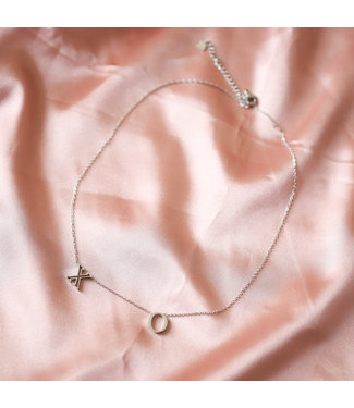 Silver Dainty XO Necklace