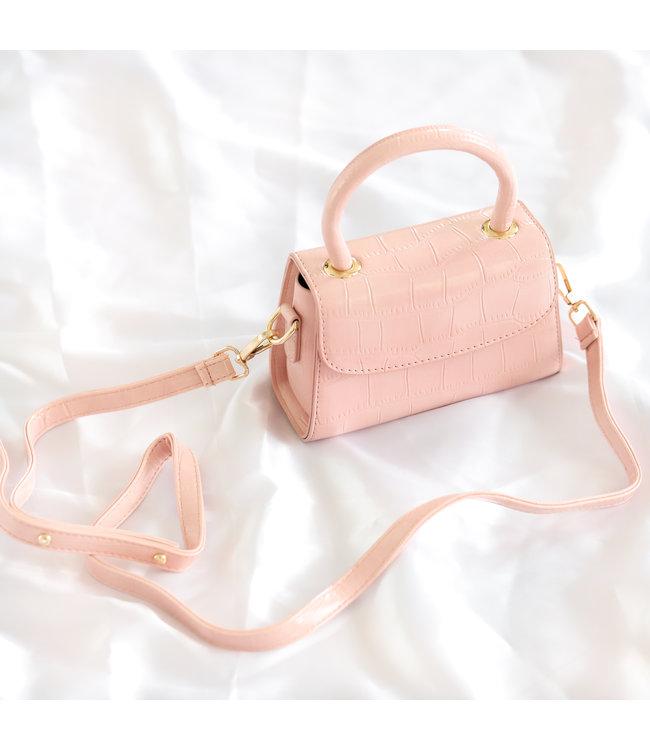Mimi Croco Bag / Pastel Pink