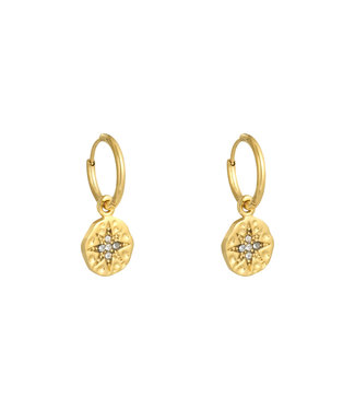 Gold Wishing Star Earrings