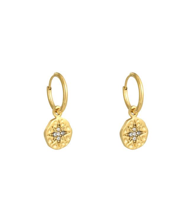 Gold Wishing Star Earrings