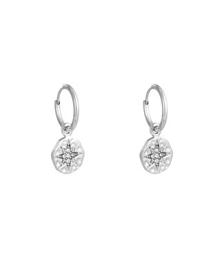 Silver Wishing Star Earrings
