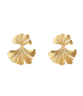 Gold Pretty Petals Earrings