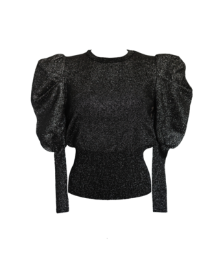 Leonie Glitter Sweater Top / Black