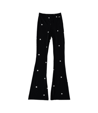 Nova Star Flared Leggings / Black & White