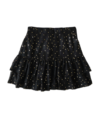 Solar Printed Star Skirt / Gold