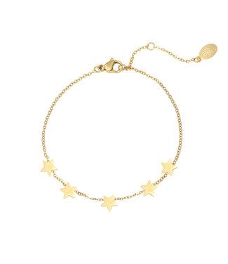 Gold Shining Stars Bracelet
