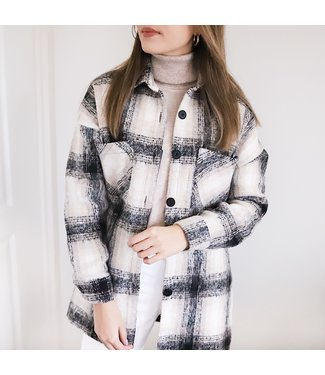 Varley Checkered Blouse Jacket / Grey