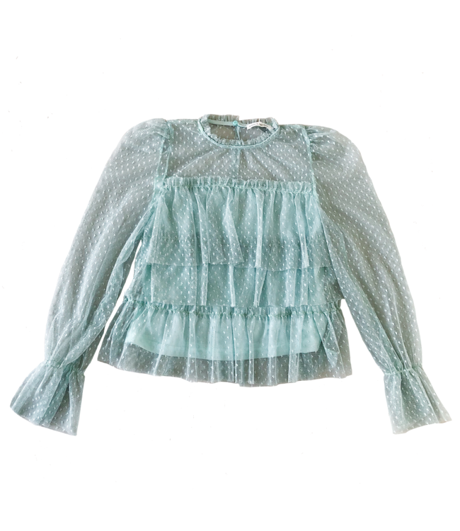 Nissa Ruffle Top / Mint