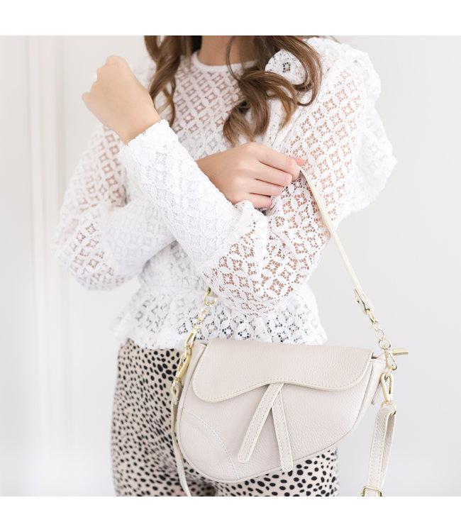 Lulu Moon Bag / Beige