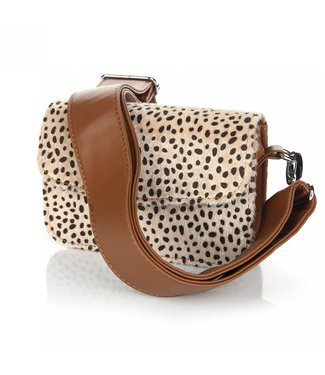 Kenzie Cheetah Bag / Camel