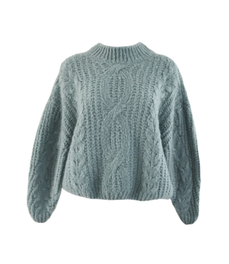Selma Oversized Knit Sweater / Sea Green