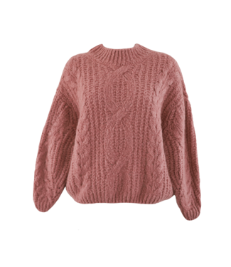 Selma Oversized Knit Sweater / Dark Peach