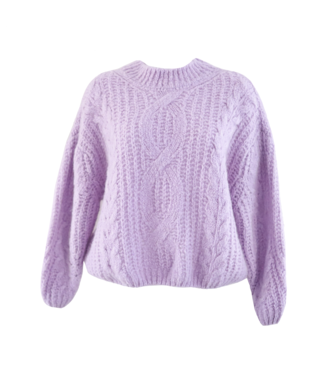 Selma Oversized Knit Sweater / Lilac