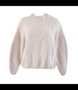 Selma Oversized Knit Sweater / Beige