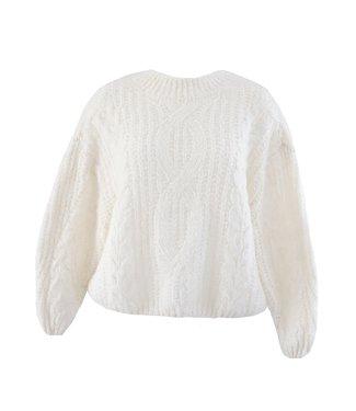 Selma Oversized Knit Sweater / Off White