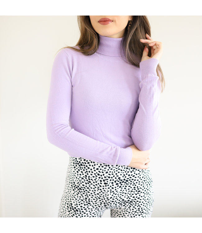 Millie Turtleneck Knit / Lilac