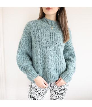 Selma Oversized Knit Sweater / Sea Green