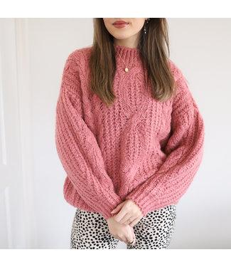 Selma Oversized Knit Sweater / Dark Peach