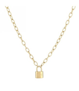 Gold Love Lock Necklace