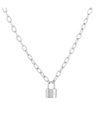 Silver Love Lock Necklace