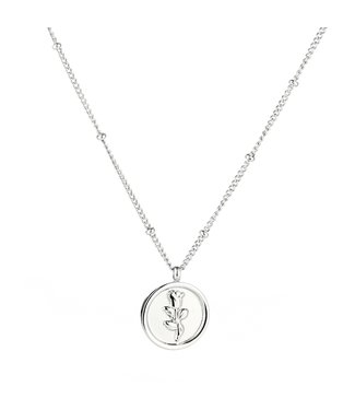 Silver La Rosa Necklace