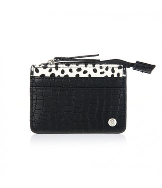 Zina Cheetah Croco Cardholder / Black