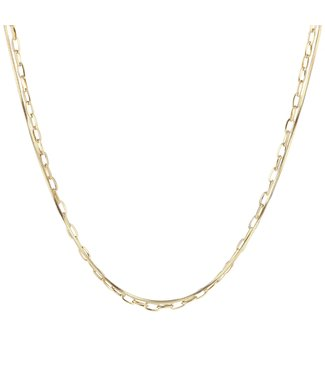 Gold Double Chains Necklace