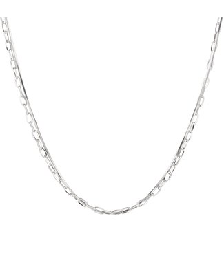 Silver Double Chains Necklace