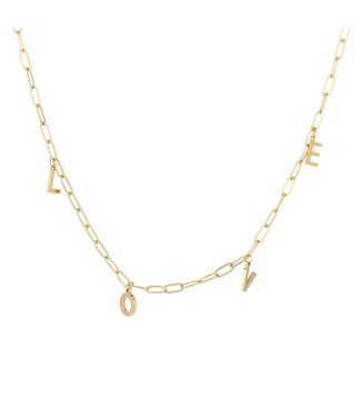 Gold Love Chain Necklace