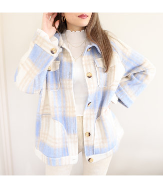 Elena Checkered Jacket / Blue