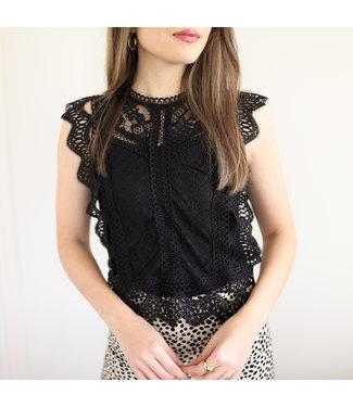Rosalie Lace Top / Black