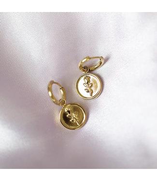 Gold La Rosa Earrings