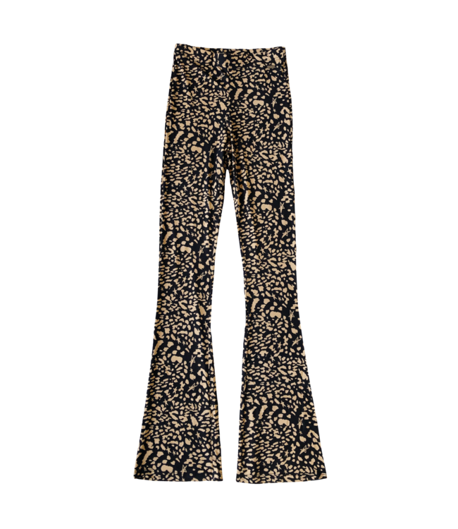 Joya Leopard Flared Leggings / Black