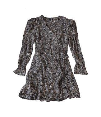 Amelie Dots Dress / Black & Pink