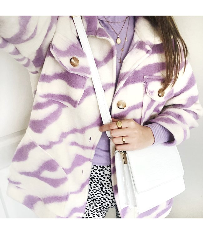 Salome Zebra Jacket / Purple