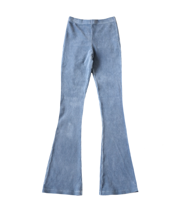 Corduroy Flared Trousers / Light Denim Blue