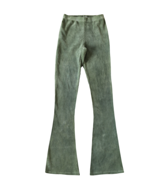 Corduroy Flared Trousers / Vintage Green