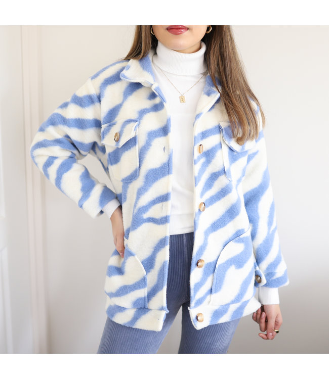 Salome Zebra Jacket / Blue