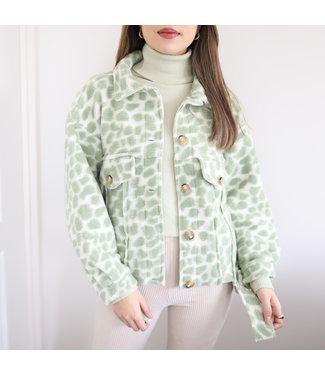 Bambi Animal Print Jacket / Green
